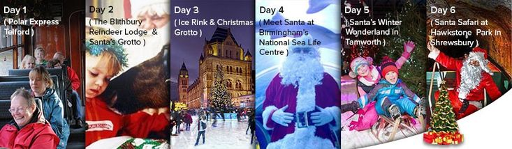 Start Planning Your Trip to Visit Santa West Midlands! We've prepared a 6-day travel itinerary for your family. Check it out and make your journey to visit Santa West Midlands an adventure of a lifetime.
