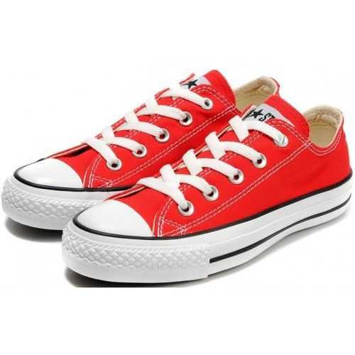 Converse Shoes Red Chuck Taylor All Star Classic Womens/Mens Canvas Lo Sneakers - €42.60 : DXsneakers