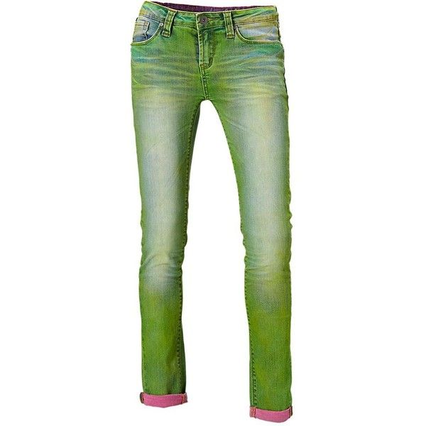 One Green Elephant gekleurde jeans ❤ liked on Polyvore featuring jeans, pants, green, bottoms, pants/jeans, slim fit jeans, slim cut jeans, green jeans and slim jeans