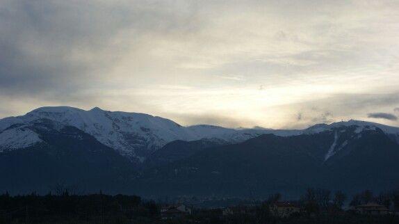 La Majella #Abruzzo #sunset #tramonto #italy #igersabruzzo