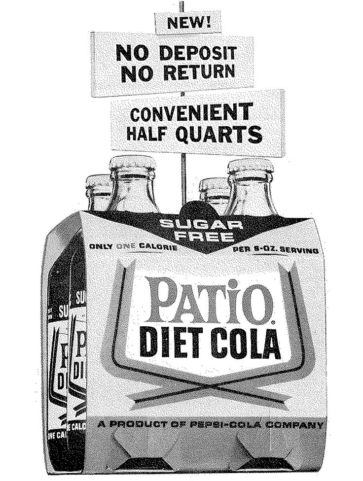 PATIO DIET COLA Was A Brand Of Diet Soda Introduced By Pepsi In 1963. It  Was Created In Response To Diet Rite Cola. Fitness Promoter Debbie Drake Wu2026