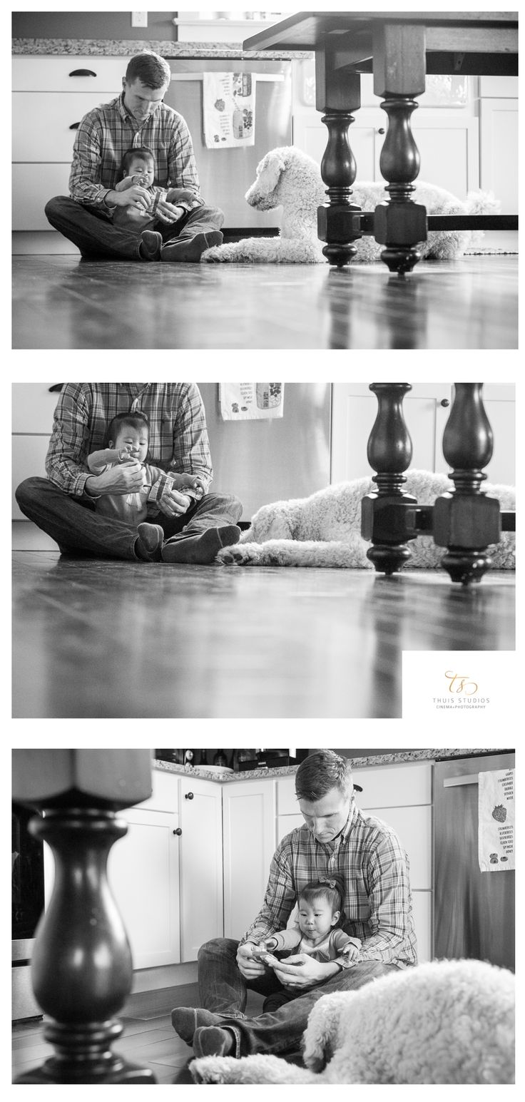 Snack time with daddy...and the pup!  #father #daughter #family #lifestyle #photography #thuisstudios