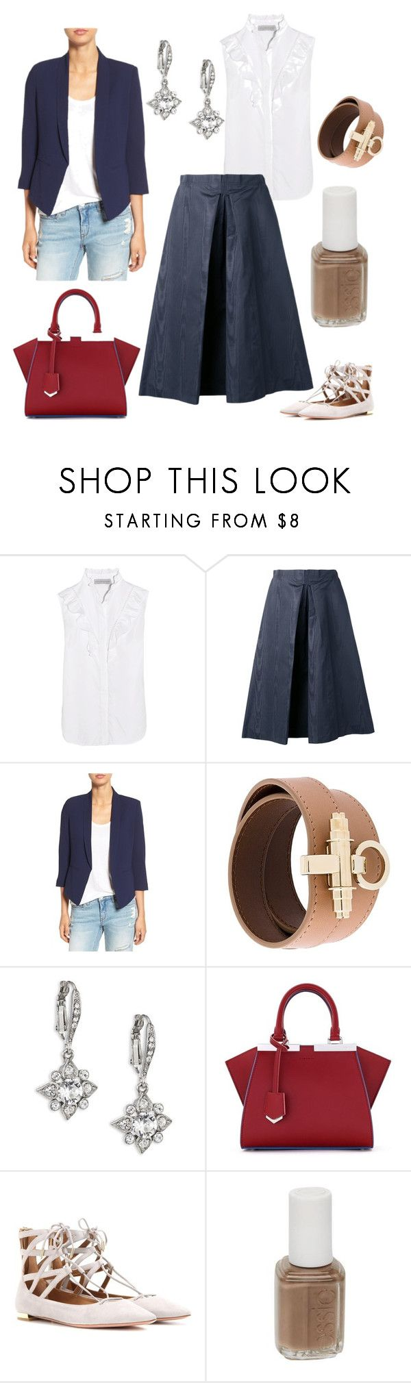 """Fashion inspo: 14/9/2016"" by antiadamo on Polyvore featuring STELLA McCARTNEY, Nina Ricci, Mural, Givenchy, Oscar de la Renta, Fendi, Aquazzura and Essie"