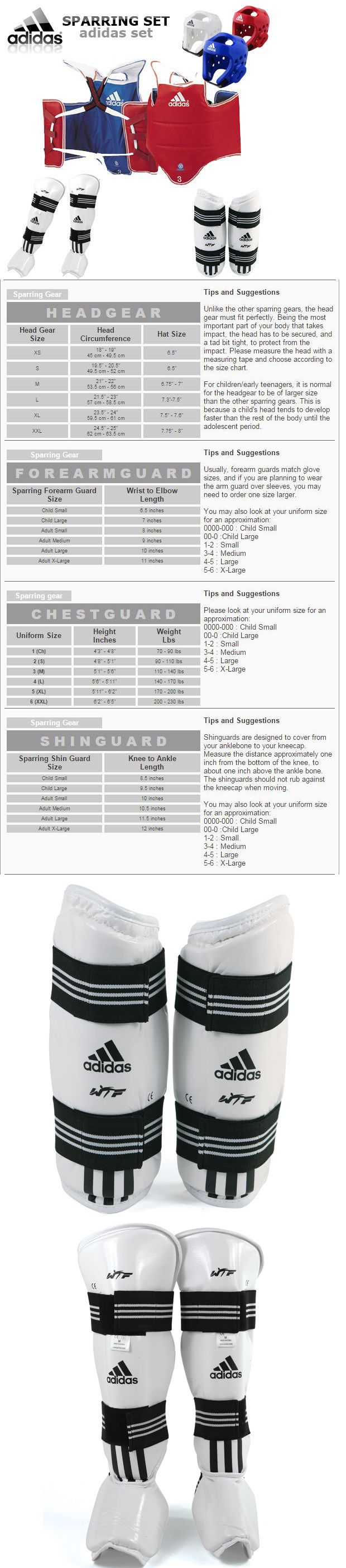 Other Combat Sport Protection 179783: Adidas Tkd Wtf Approved Taekwondo Sparring Gear Set And Free Double Mouth Guard BUY IT NOW ONLY: $184.99