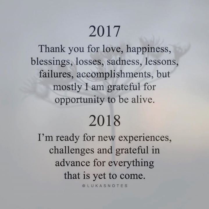 Love, happiness and blessings!  I can't wait to see what 2018 has in store ❤️