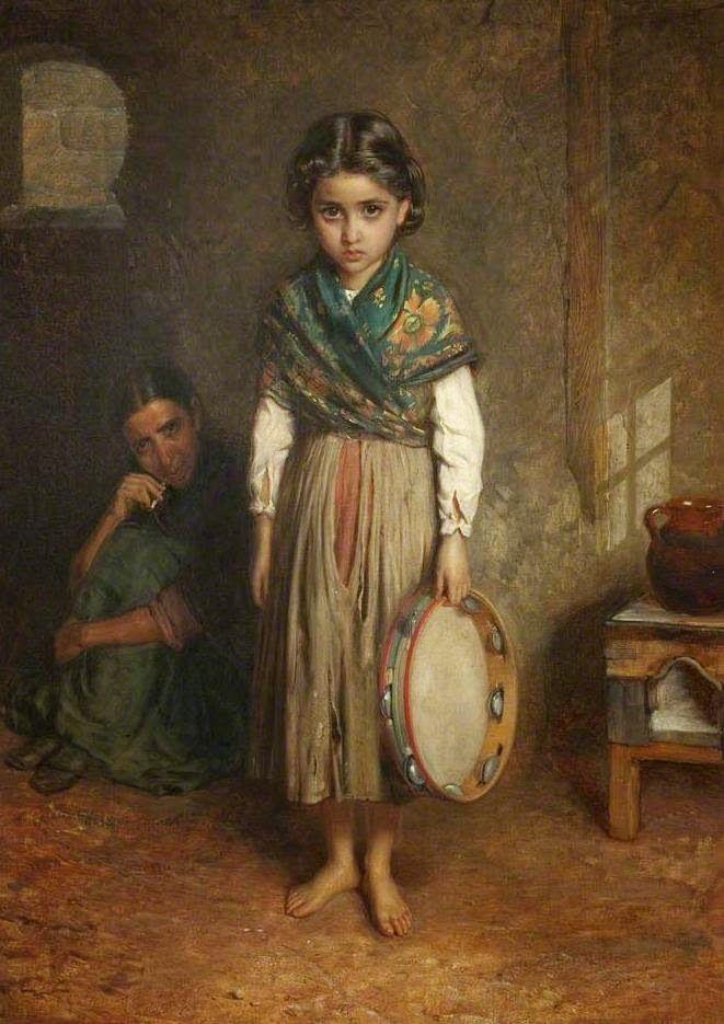 Una pequeña gitana española _ A Little Spanish Gypsy, John Bagnold Burgess (1868) Towneley Hall Art Gallery and Museum