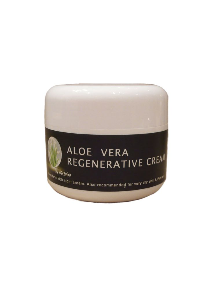 Aloe Vera Regenerative CreamA wonderful rich night cream. Also recommended for very dry skin & Psoriasis. Apply sparingly