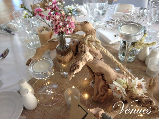 Beach wedding table centrepiece: goldcoast wedding decorations! Visit our website for pricing! Www.allaboutvenues.com.au