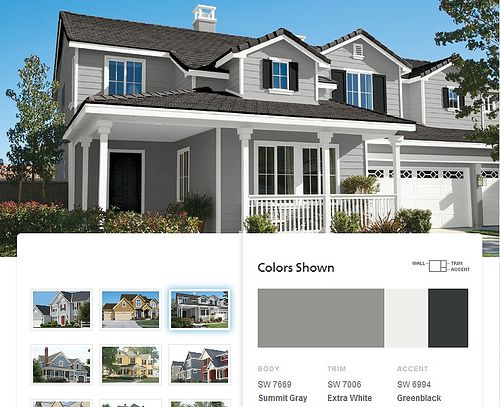 paint color schemes exterior colors house gray colour for brick ranch homes houses combinations style
