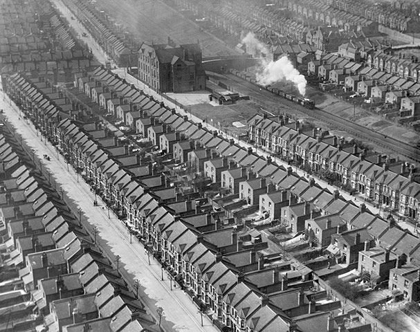 Kensal Rise, London, 1921: Marching 1921, Kensal Green, London, Packs Houses, Dennings Packs, Aerial Photography, Steam Training, Aerial Photographers, Kensal Rise