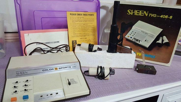 Sheen Vintage TV Game  console with gun  1970s #sheen