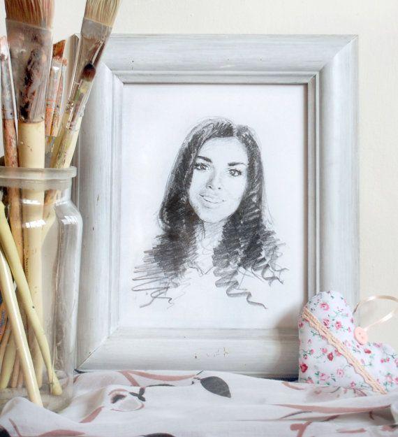 Custom Pencil Portrait by PencilAndTwine on Etsy