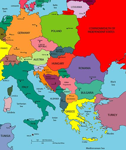 Maps of Europe Region Country in 2019 Eastern europe map Eastern europe Central eastern europe