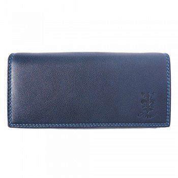 - Zacht kalf leder portemonnee in donker blauwe kleur