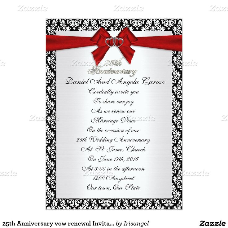 65 best 25th Anniversary Invitations customized images on Pinterest - best of formal invitation card birthday