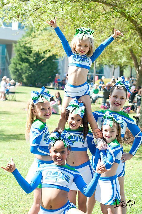 I love the idea of encouraging girls to be active. If they genuinely want to be cheerleaders that's fine as well. But I think these costumes are a little much. Why do young girls need to wear such revealing clothes? It's kind of creepy really. Gross inculturation of girls happens at such a young age, very disheartening.