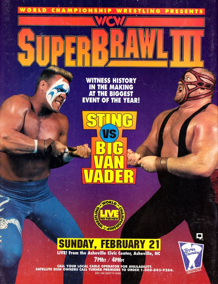 [This Day in WCW History] WCW SuperBrawl III Took Place in Asheville, NC [February 21st, 1993]This main event had Sting face Vader in the dreaded White Castle of Fear Strap Match which might just be my favorite strap match of all time (second favorite being the Jericho/Saturn dog collar match from 1999). Vader is an absolute monster in the match but still manages to sell Sting's attacks to the point where both men look incredible.Plus, I love the stipulation where you have to touch all four…