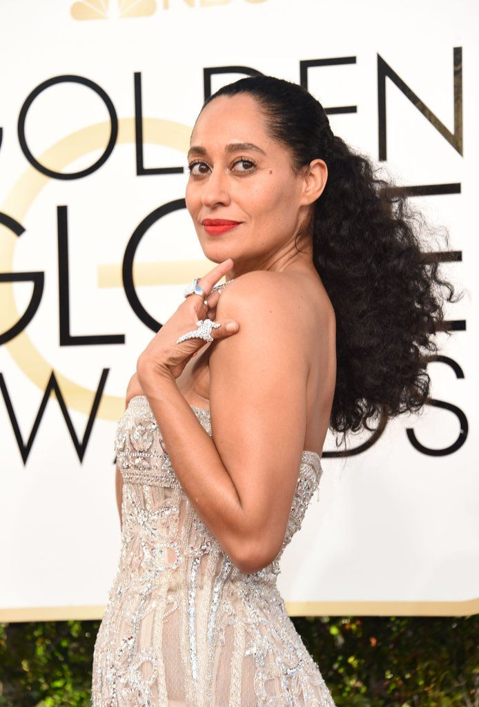 Get a Close Look at All the Glamorous Beauty Style at the Golden Globes  Tracey Ellis Ross  Lauren B Montana