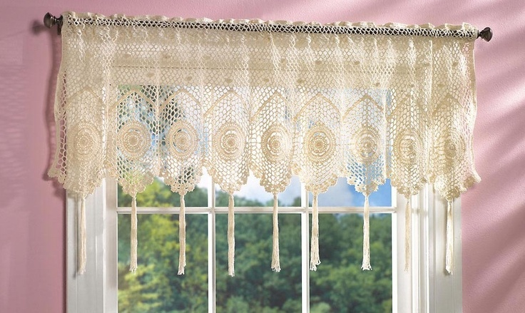 Valance Curtains Lace Design And Window Valances On Pinterest
