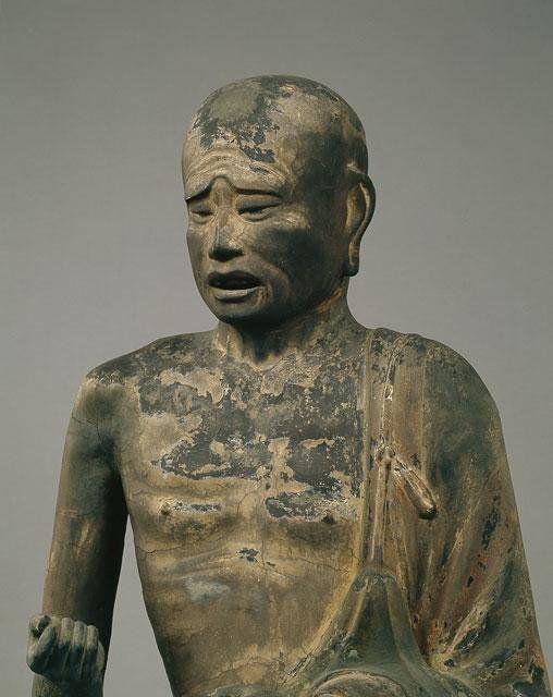 """仏像紹介BOTさんのツイート: """"興福寺十大弟子像:釈迦に従った高弟像のうち6躯が残る。剃髪し、袈裟をまとう姿は共通であるが、顔の表情や手の形などはそれぞれ個性的に表現されている。富楼那(1)、迦旃延(2)、舎利弗(3)、須菩提(4)の各像の他、ラゴラと目犍連が現存。https://t.co/TKVbaRG1sl"""""""