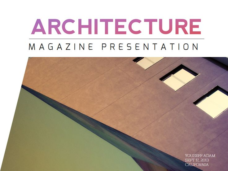 Architecture Magazine PowerPoint by Humble Pixels on Creative Market