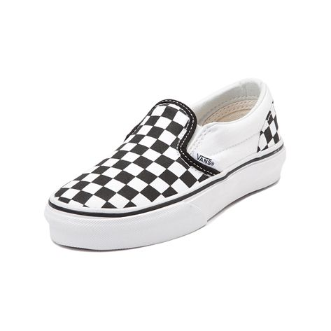 Youth Vans Slip On Metallic Chex Skate Shoe