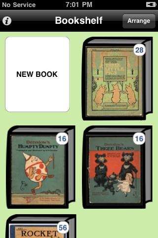 Story kit. Her kan du læse disse bøger, ændre i dem, indtale lyd til dem etc. Du kan også lave din egen engelskbog med billeder, lyd og tale. Appen er gratis