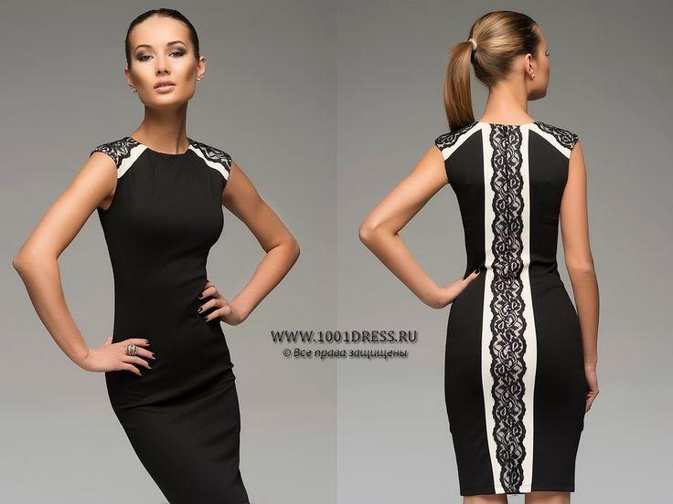 Увеличить платье по бокам кружевом