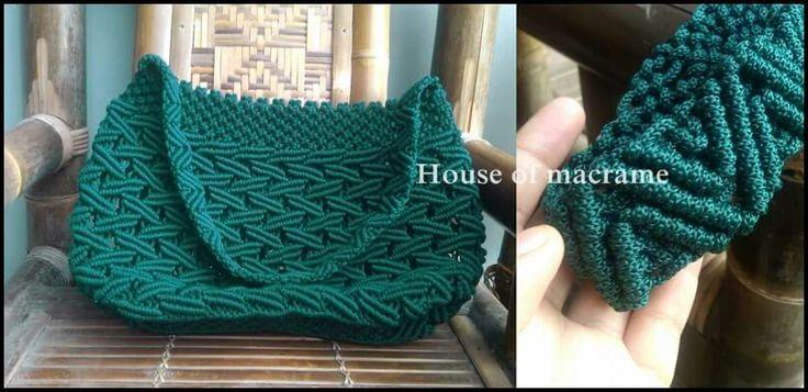 Macrame bolso verde