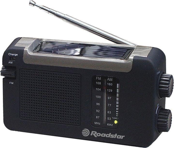 Přenosné monofonní rádio s  FM/AM tunerem a třemi možnostmi nabíjení – solární, dynamo a USB port, nabíjecí baterie, výstup na sluchátka.