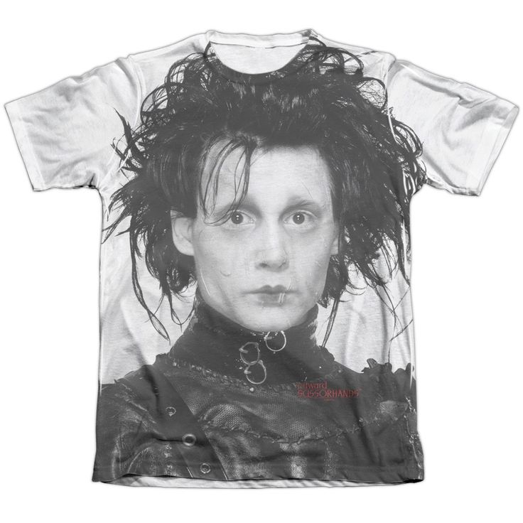 """Checkout our #LicensedGear products FREE SHIPPING + 10% OFF Coupon Code """"Official"""" Edward Scissorhands/heads Up-adult Poly/cotton S/s T- Shirt - Edward Scissorhands/heads Up-adult Poly/cotton S/s T- Shirt - Price: $24.99. Buy now at https://officiallylicensedgear.com/edward-scissorhands-heads-up-adult-poly-cotton-s-shirt-licensed"""