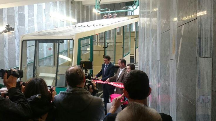 Slavnostní otevření lanovky na Petřín