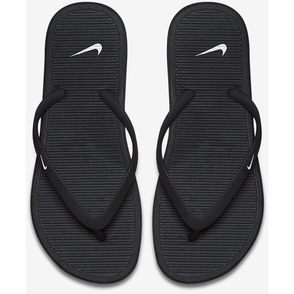 Nike Solarsoft Women's Flip Flop. Nike.com ($22) ❤ liked on Polyvore featuring shoes, sandals, flip flops, nike footwear, nike, nike shoes, nike sandals and nike flip flops