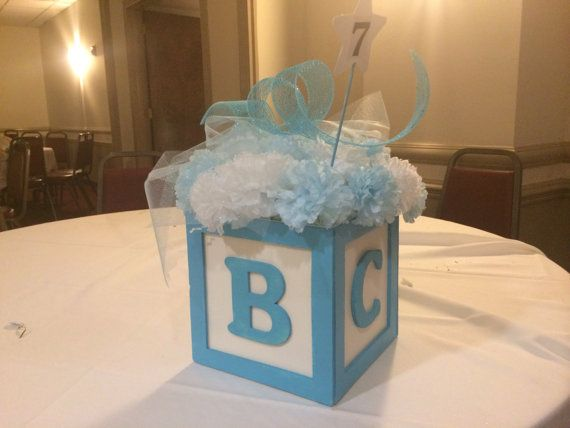 Abc Baby Block Centerpiece 8 Quot X8 Quot Great For Baby Shower Or Birthdays Custom Colors Themes