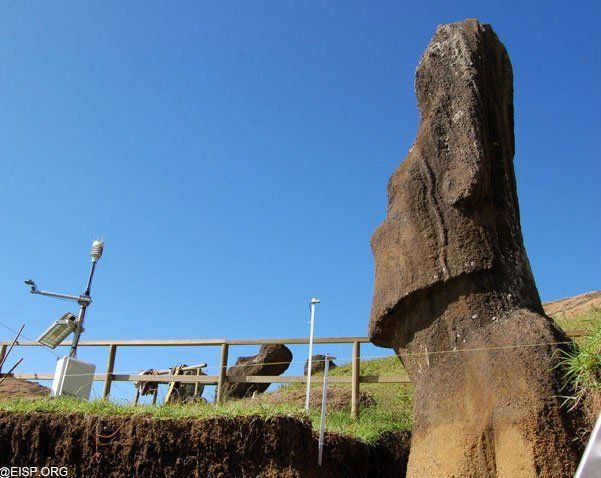 Easter Island Heads Petroglyphs