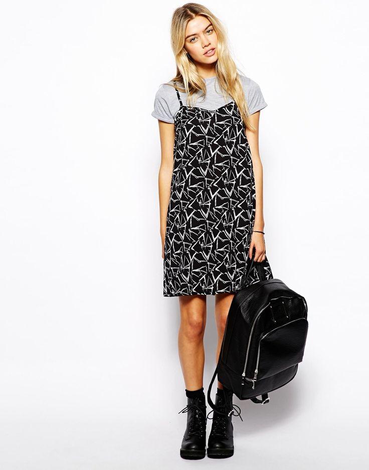 slip dress with built in tee shirt dress
