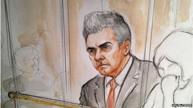 IW being sentenced (court drawing)