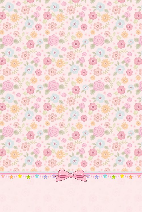 MyKawaiiWallpapers: Floral Ribbon iPhone4 Wallpaper.