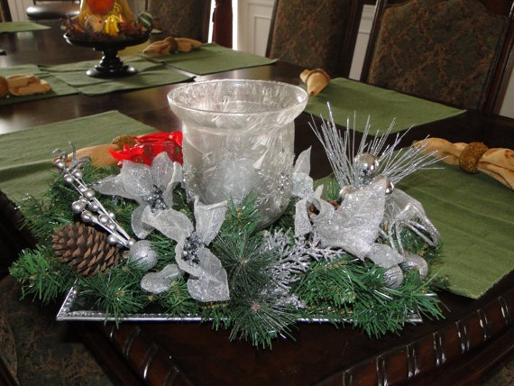Christams Frosted Glass Holder by LilaEveCrafts on Etsy, $45.00