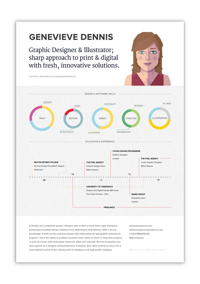 11 best Illustration Resumes images on Pinterest Graphics - freelance graphic design resume