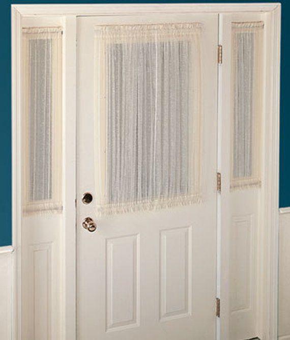 Door Curtain Door Panels Door Privacy Door Shades French Etsy