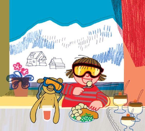 polska ilustracja dla dzieci: Zapowiedź - Basia i narty