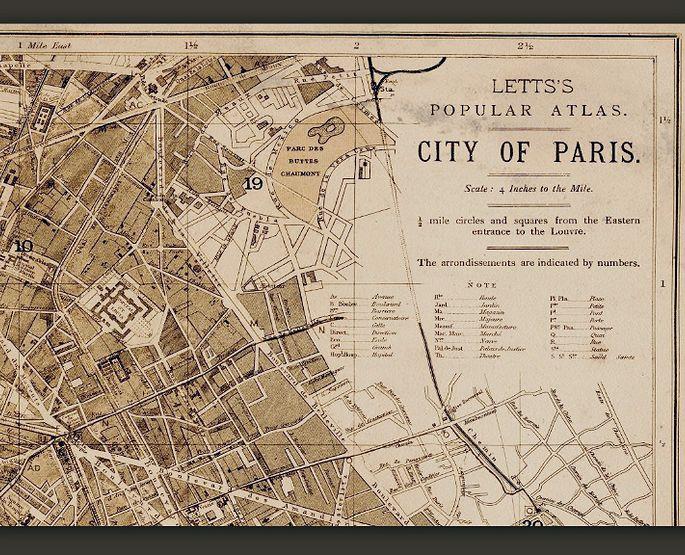 Best Old World Maps Vintage Maps And Antique Maps Images On - Restoration hardware paris map