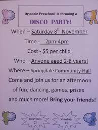 Image result for kindergarten disco invitation