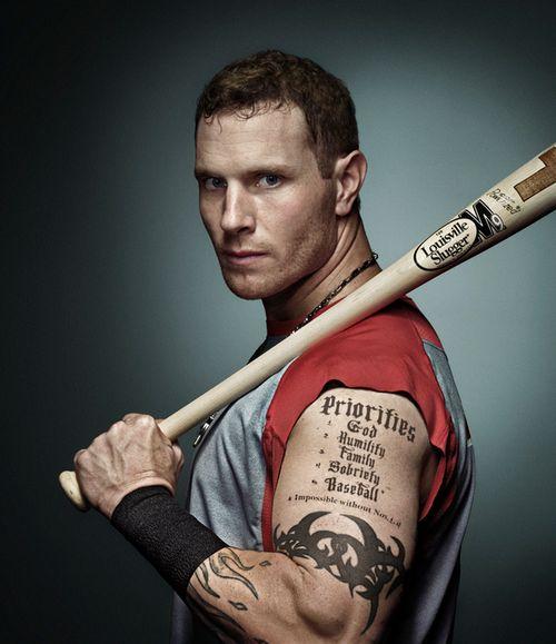 137 best fav sports images on pinterest hot guys hot for Josh hamilton tattoo