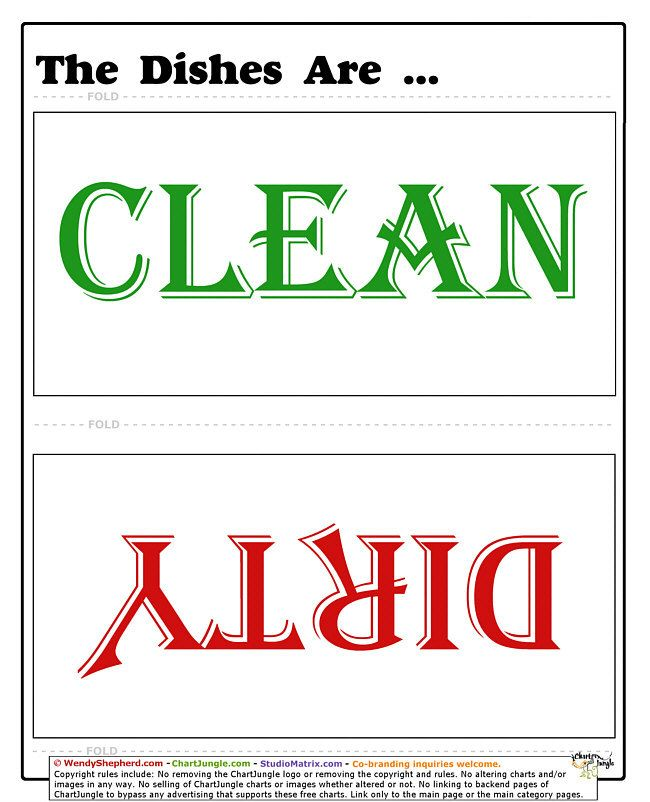 cleandirty dishes sign art project ideas pinterest