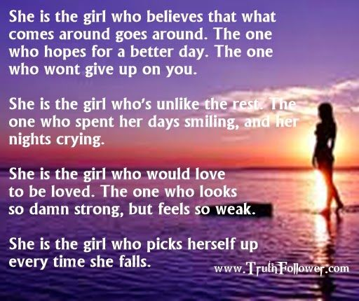 Shes the girl who would love to be loved, Respect Girls Quotes