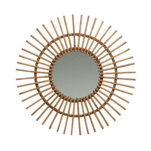 Miroir rotin naturel vintage Soleil - Miroir rotin
