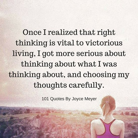 Right thinking is vital to victorious living - Joyce Meyer Quote