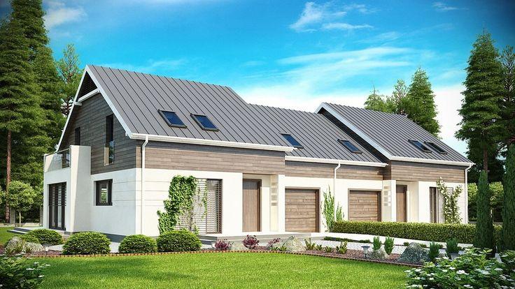 Prosta w budowie bryła przykryta dachem dwuspadowym ubrana jest w dopasowane dodatki oraz wykusz.